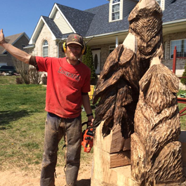 Wooden Chainsaw Carving